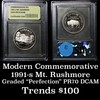 1991-S Mount Rushmore Modern Commem Half Dollar 50c Graded GEM++ Proof Deep Cameo by USCG