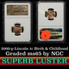NGC 2009-p Birth & Childhood Lincoln Cent 1c Graded ms65 by NGC