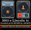 ANACS 2011-s Lincoln Cent 1c Graded pr70 DCAM by ANACS