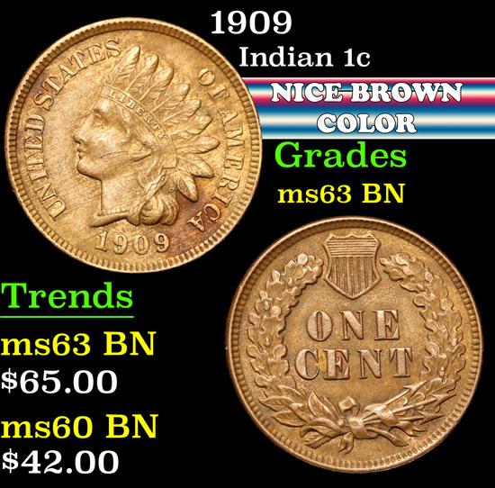 1909 . . Indian Cent 1c Grades Select Unc BN