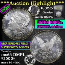 1882-p Morgan Dollar $1 Graded GEM Unc DMPL USCG