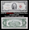1963 $2 Red Seal United States Note Grades Select CU