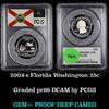 PCGS 2004-s Florida Washington Quarter 25c Graded pr69 DCAM by PCGS