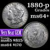 1880-p Morgan Dollar $1 Grades Choice+ Unc (fc)