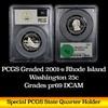 PCGS 2001-s Rhode Island Washington Quarter 25c Graded pr69 DCAM by PCGS