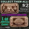 $2 Silver Certificate 1 oz .999 Copper Bar