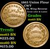 1863 Union Flour Civil War Token 1c Grades Select Unc BN