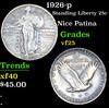 1926-p Standing Liberty Quarter 25c Grades vf+