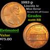 1982-p Lincoln Cent 1c Grades GEM+ Unc RB