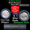 Buffalo Nickel Shotgun Roll in Old Coca-Cola Wrapper 1920 & d Mint Ends (fc)