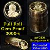 Proof 2000-s Sacagawea dollar roll $1, 20 pieces