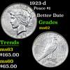 1923-d Peace Dollar $1 Grades Select Unc