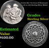 "Franklin Mint ""The Genius Of Michelangelo"" 1.35 oz .925 Sterling Silver Medal Grades"
