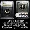 1996-s Olympics Soccer . . Modern Commem Half Dollar 50c Grades GEM++ Proof Deep Cameo