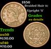 1856 Braided Hair Large Cent 1c Grades AU Details