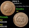 1864 L Indian Cent 1c Grades ag