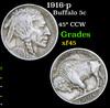 1916-p Buffalo Nickel 5c Grades xf+