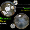 America In Space First Long Range Communication Satellite 1oz. .925 Sterling Silver Round Grades