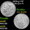 1878-p 7tf Morgan Dollar $1 Grades Unc Details