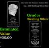 John Tyler 10th President Danbury Mint 1oz. .925 Sterling Silver Bar Grades