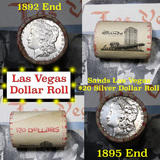 *Auction Highlight* Full Morgan/Peace Sands Hotel silver $1 roll $20, 1892 & 1895 ends (fc)
