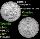 1898-o Morgan Dollar $1 Grades vf++