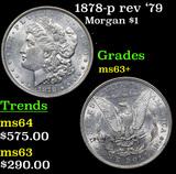 1878-p rev '79 Morgan Dollar $1 Grades Select+ Unc