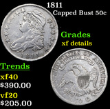1811 Capped Bust Half Dollar 50c Grades xf details