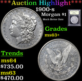 ***Auction Highlight*** 1900-s Morgan Dollar $1 Graded Select+ Unc By USCG (fc)
