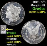 1881-s/s Morgan Dollar $1 Grades Choice Unc DMPL