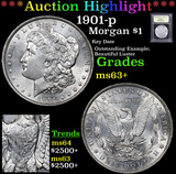 ***Auction Highlight*** 1901-p Morgan Dollar $1 Graded Select+ Unc By USCG (fc)