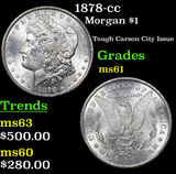 1878-cc Morgan Dollar $1 Grades BU+