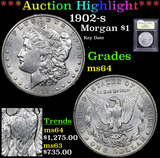 ***Auction Highlight*** 1902-s Morgan Dollar $1 Graded Choice Unc By USCG (fc)