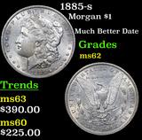 1885-s Morgan Dollar $1 Grades Select Unc