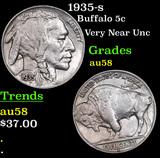 1935-s Buffalo Nickel 5c Grades Choice AU/BU Slider