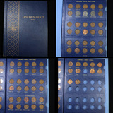Near Complete Lincoln cent book 1941-1968 71 coins . .