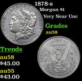 1878-s Morgan Dollar $1 Grades Choice AU/BU Slider