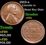 1915-s Lincoln Cent 1c Grades vf+