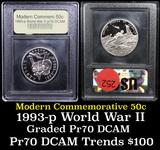 1991-1995-P WWII Modern Commem Half Dollar 50c Grades GEM++ Proof Deep Cameo