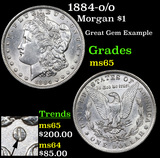 1884-o/o Morgan Dollar $1 Grades GEM Unc