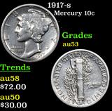1917-s Mercury Dime 10c Grades Select AU