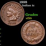 1898 Indian Cent 1c Grades vf++