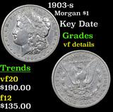 1903-s Morgan Dollar $1 Grades vf details