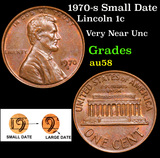 1970-s Small Date Lincoln Cent 1c Grades Choice AU/BU Slider