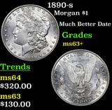 1890-s Morgan Dollar $1 Grades Select+ Unc