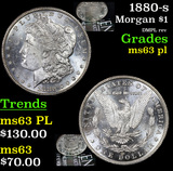 1880-s Morgan Dollar $1 Grades Select Unc PL