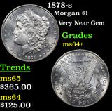 1878-s Morgan Dollar $1 Grades Choice+ Unc