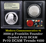 2006-P Ben Franklin Founding Father Modern Commem Dollar $1 Grades GEM++ Proof Deep Cameo