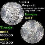 1897-s Morgan Dollar $1 Grades Choice+ Unc