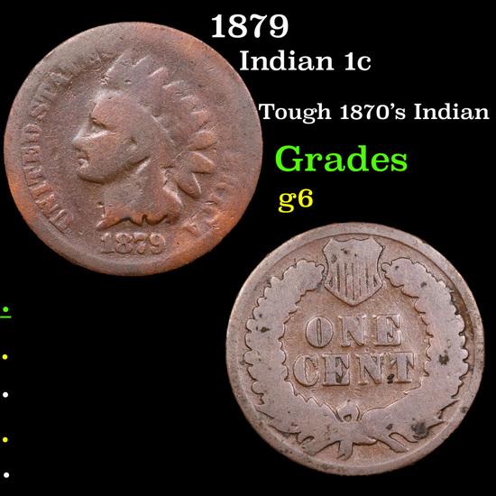 1879 Indian Cent 1c Grades g+
